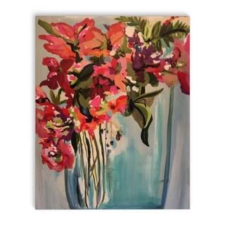 Kavka Designs Disco Baby Blue/Pink/Red/Purple/Orange/Green Canvas Art
