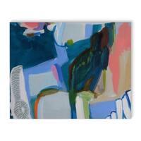 Kavka Designs Daddy's Money Blue/Green/Blush Canvas Art