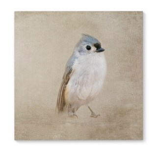 Kavka Designs One Little Bird Blue/Grey/Ivory Canvas Art