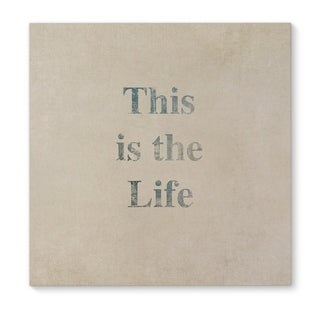 Kavka Designs This Is The Life Blue Canvas Art