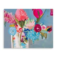 Kavka Designs Racey Rubes Blue/Pink/Purple/Green Canvas Art