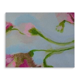 Kavka Designs Rose Gold Rush Blue/Green/Pink Canvas Art
