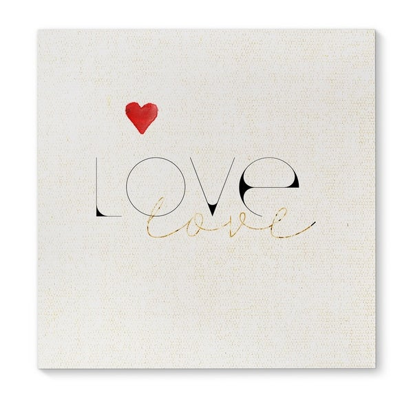 Kavka Designs Love Love Red/Black/Gold Canvas Art