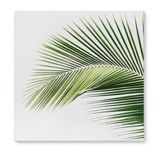 Kavka Designs Palm Beach Green/White Canvas Art