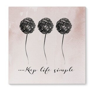 Kavka Designs Keep Life Simple Pink/Black Canvas Art