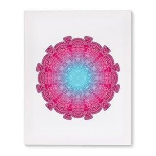Kavka Designs Elettra Pink/Blue/Purple Canvas Art