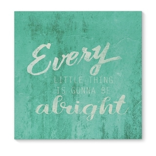 Kavka Designs Everything Will Be Alright Teal/White Canvas Art