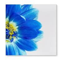 Kavka Designs Blue Petals Blue/Yellow White Canvas Art