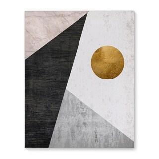 Kavka Designs Night Moon Gold/Black/Grey Canvas Art