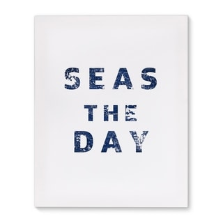 Kavka Designs Seas The Day Blue/White Canvas Art