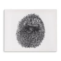Kavka Designs Hedgehog Grey/Tan Canvas Art