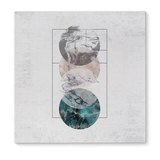 Kavka Designs 4 Worlds Blue/Grey/Blush Canvas Art