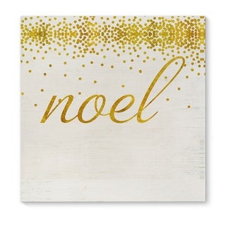 Kavka Designs Noel Gold Gold/White Canvas Art