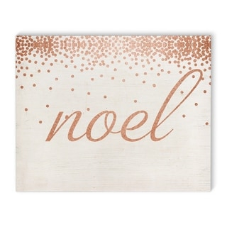 Kavka Designs Noel Rose Peach/White Canvas Art