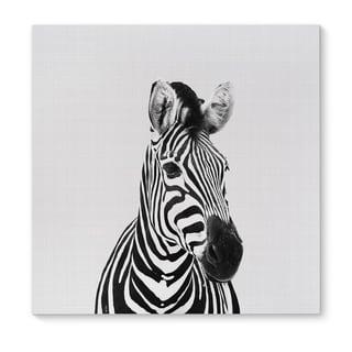 Kavka Designs Zebra Grey/Black/White Canvas Art