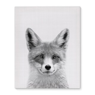 Kavka Designs Fox Grey/Black/White Canvas Art