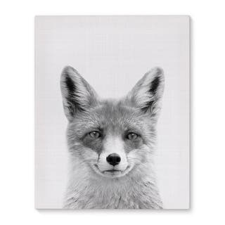 Kavka Designs Fox Grey/Black/White Canvas Art