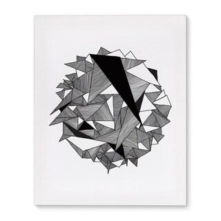 Kavka Designs In A Ball Black/White/Grey Canvas Art