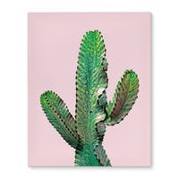 Kavka Designs Dancing Cactus Pink/Green Canvas Art