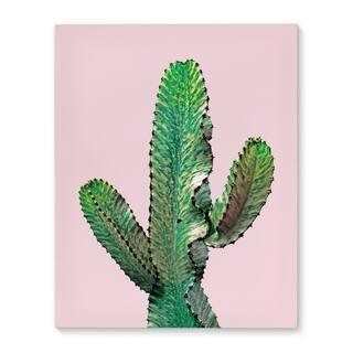 Kavka Designs Dancing Cactus Pink/Green Canvas Art