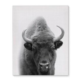 Kavka Designs Buffalo Grey/Black/White Canvas Art