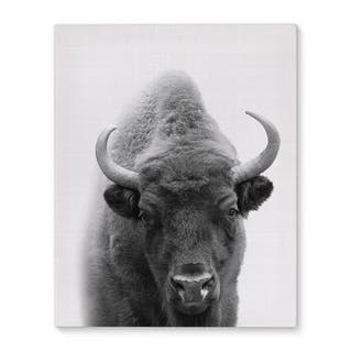 Kavka Designs Buffalo Grey/Black/White Canvas Art