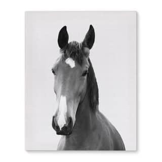 Kavka Designs Horse Grey/Black/White Canvas Art