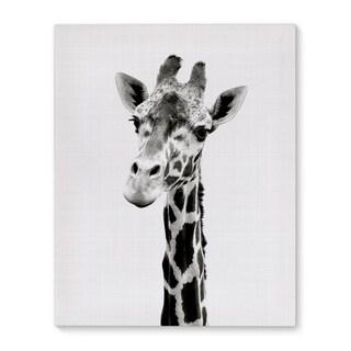 Kavka Designs Giraffe Grey/Black/White Canvas Art
