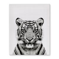 Kavka Designs Tiger Grey/Black/White Canvas Art