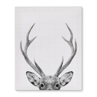 Kavka Designs Deer Grey/Black/White Canvas Art