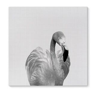 Kavka Designs Flamingo Grey/Black/White Canvas Art