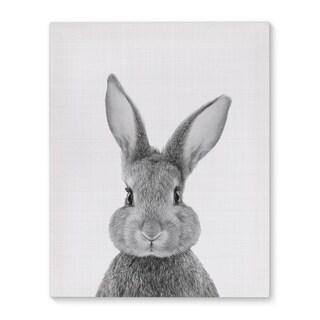 Kavka Designs Bunny Grey/Black/White Canvas Art