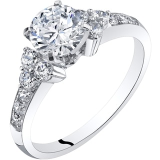 Oravo 14K White Gold Classic Style Engagement Ring