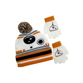 Star Wars BB-8 Cuffed Pom Beanie with Gloves