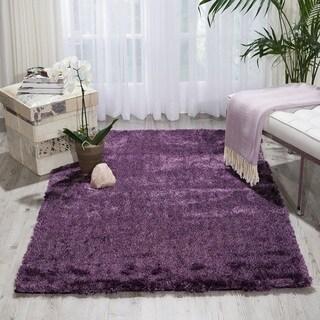nourison lush purple shag area rug