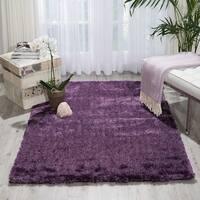 Nourison Lush Purple Shag Area Rug - 4' x 6'