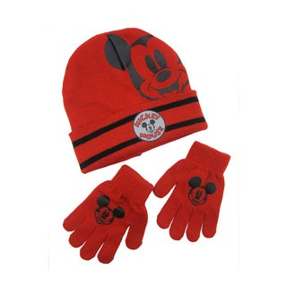 Disney Mickey Mouse Cuffed Beanie with Gloves