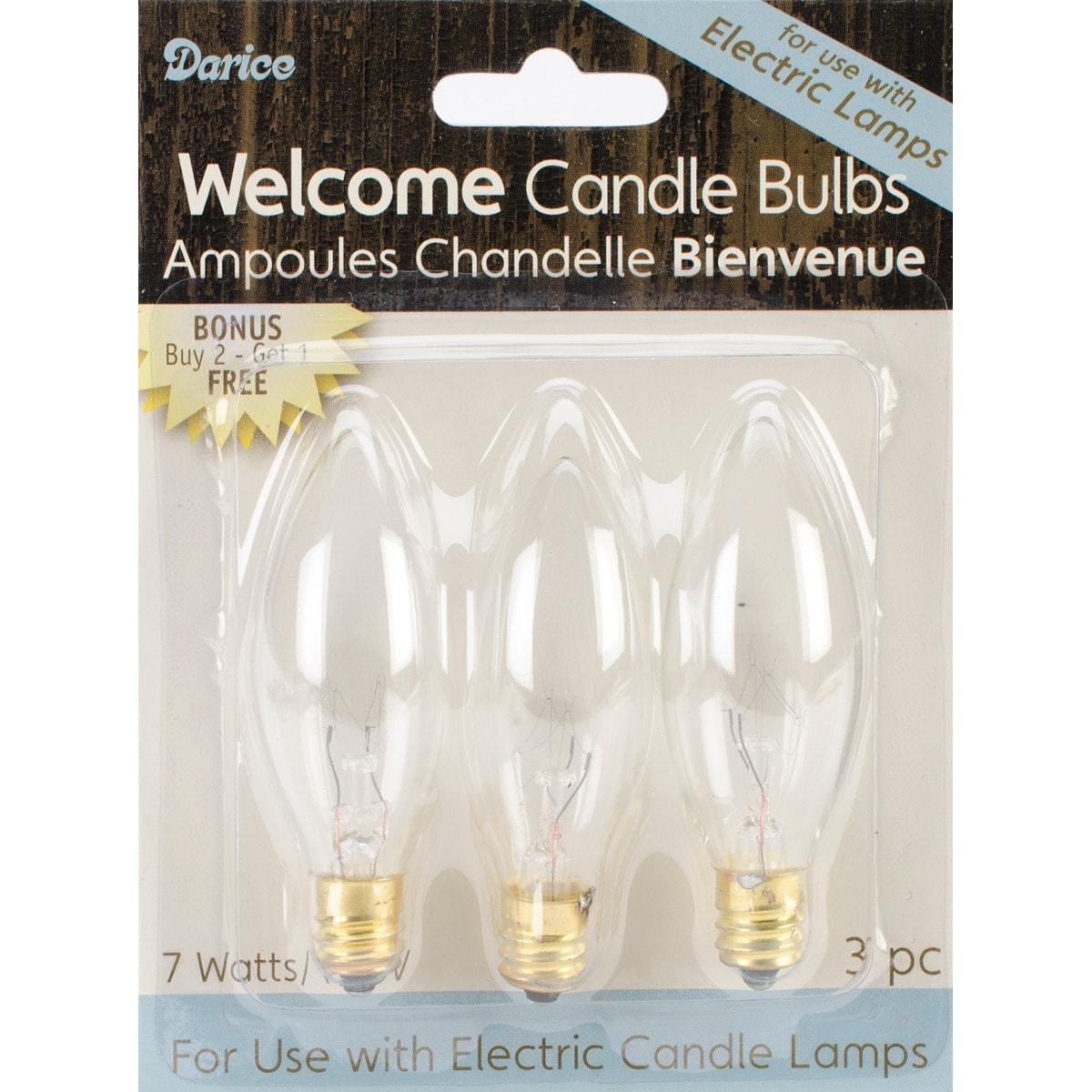 DARICE Electric Candle Bulbs 3/Pkg (7w)