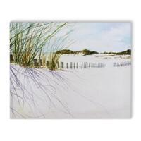 Kavka Designs Beach Green/Blue/Grey Canvas Art