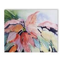 Kavka Designs Abstract Leaves Purple/Green/Orange/Red Canvas Art