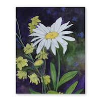 Kavka Designs Daisy Purple/White/Yellow Canvas Art
