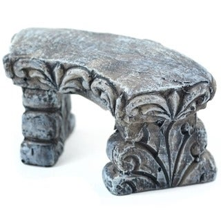Fairy Garden Stone Curved Bench