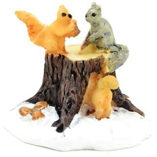 Fairy Garden Squirrels On Stump