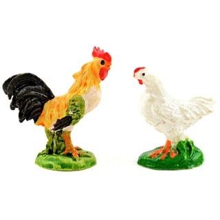 Fairy Garden Rooster & Chicken 2/Pkg