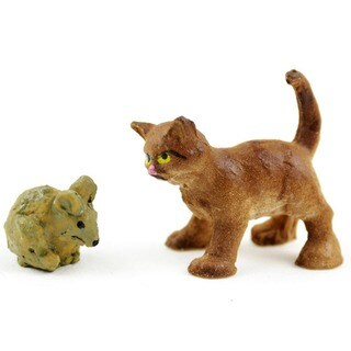 Fairy Garden Cat & Mouse 2/Pkg