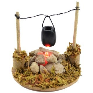 Fairy Garden LED Fire Pit W/Cooking Pot
