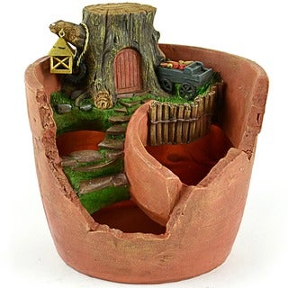 Fairy Garden Tree Stump Pot