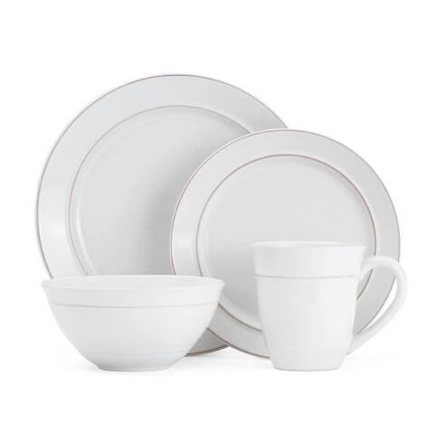 Mikasa Aubrey White 16-piece Dinnerware Set (Service for 4)