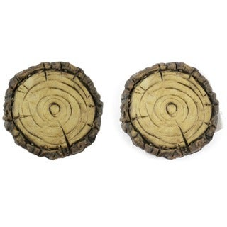Fairy Garden Faux Wood Stepping Stone 2/Pkg
