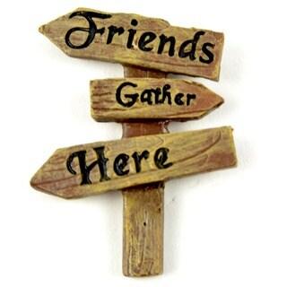 Fairy Garden Friends Gather Here Sign